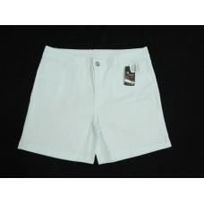 Bermuda/Shorts Branca de Sarja com Strech Feminina Meia Coxa