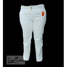 Calça Branca de Sarja com Strech (Lycra) - Feminina