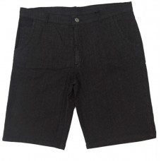 Bermuda Masculina Jeans Preta c/ Strech - Listrada - Plus Size