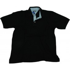 Camisa Polo - Lisa - Preta - Tecido Piquet
